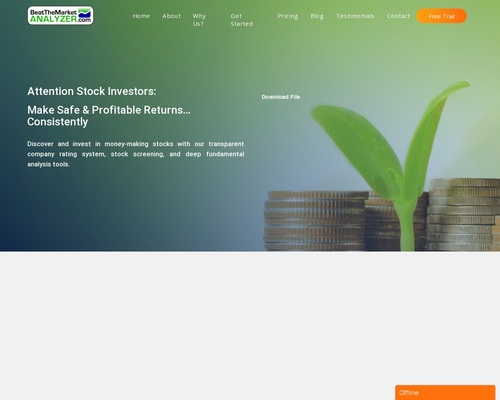 """""""#1 Stock Analyzer""""  $180 Per Sale   Free Product For Affiliates!"""