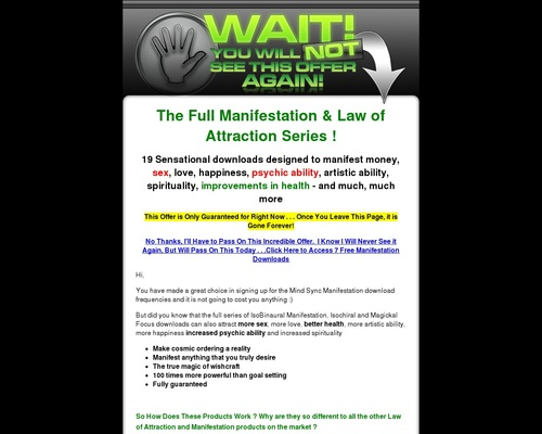 Secret Law Of Attraction Frequencies