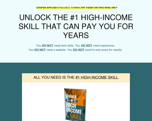 Unlock The #1 Skill – Big Monthly Commissions To You
