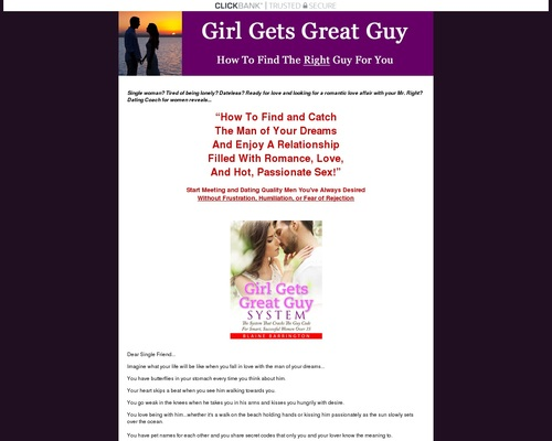 Girl Gets Great Guy System