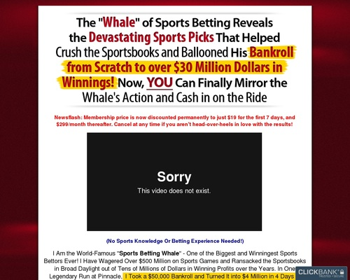 The Whale Won $30+ Million Betting On Sports! $500 Monthly Recurring!